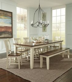 Check out this gorgeous dining room set from the John Thomas Collection from Whitewood. We carry a large selection of options from the collection that offers styles for everyone! Furniture, Dining Room Small, Farmhouse Dining Room, Modern Dining Room, Dining Table, Home Decor, Cottage Dining Rooms, Wood Furniture Store, Living Decor