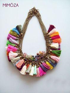 Tassel Necklace Colors via Mimoza Etsy Shop