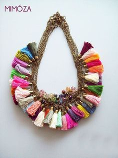 Tassel Necklace Colors via Mimoza