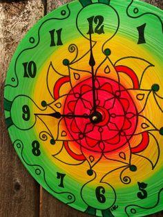 Flores de Verano Clock  Southwestern Style Geometric by EyePopArt, $55.00