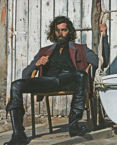 <3 Maximiliano Patane in Gentleman Magazine (Various Editorials). I hate leather pants. But this is an Argentine stud in leather pants with dirty face and dusty hands. That's a whole different level of hotness.