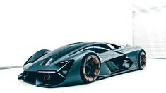 """Developed in partnership with MIT, the Lamborghini Terzo Millennio Concept is the Raging Bull's idea of a supercar for the """"third millennium."""" Unhappy with current battery technology, Lamborghini…More Lamborghini Miura, Carros Lamborghini, Lamborghini Photos, Lamborghini Lamborghini, Ferrari, Luxury Sports Cars, Supercars, Audi Sq5, Design Autos"""