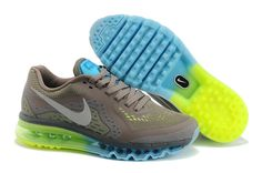 Men's Nike Air Max 2014 Running Shoes Brown