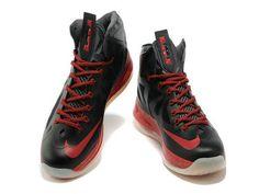 b26a0b06149f Nike LeBron 10 Away Black Silver Red  Model  LeBron James Shoes