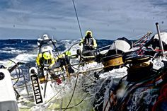 March 23, 2015. Leg 5 to Itajai onboard Team Brunel. Day 5. Cameras reveal life onboard in the Southern Ocean Stefan Coppers / Team Brunel / Volvo Ocean Race