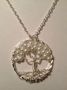 Pearl Tree of LifeHandmade Jewelry Pendant by Just4FunDesign, $27.00