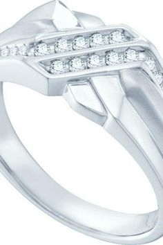 0.19CTW DIAMOND FASHION MENS RING     Metal Type: 14KWG     Metal Weight (gms): 5.158(approx.)     GD-45414    thesgdex.com