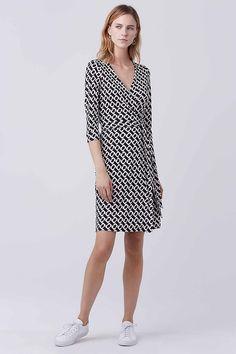 New Julian Two Silk Jersey Wrap Dress | Landing Pages by DVF