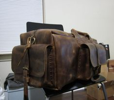 Leather Duffelweekend bagtravel large bag for men and by NadiraBag, $750.00