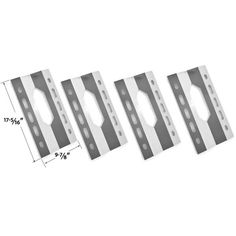 Shop 4 Pack Stainless Steel Heat Shield for Harris Teeter 210001 Gas Grill Models Stainless Steel Heat Shield Grill Parts Ga.