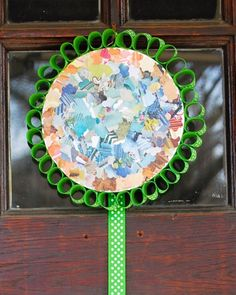 Recycled+Magazine+Wreath+for+Earth+Day