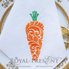 Machine Embroidery Design Decorative ornamental carrot