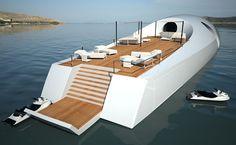 The U-010 Underwater Luxury Yacht Design Concept Deck