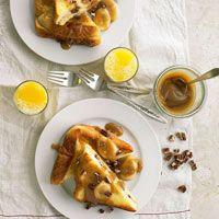 Mascarpone-Stuffed French Toast with Salted Caramel-Banana Sauce