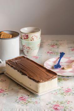 Semifrío de mascarpone y Nutella Mousse, Homemade Ice, Frappe, Yummy Cakes, Cake Pops, Cupcake Cakes, Bakery, Sweet Treats, Cheesecake