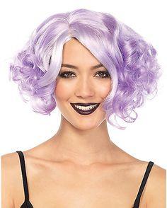 Purple Curly Bob Wig - Spirithalloween.com