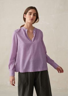 3f7c399432ff Click to zoom Mother Of Pearl Buttons, Hand Weaving, Bell Sleeve Top,  Neckline