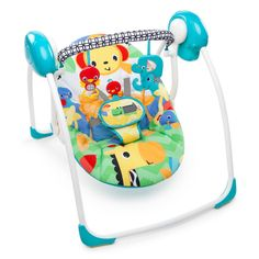 Shop for Bright Starts Safari Smiles Portable Baby Swing. Get free delivery On EVERYTHING* Overstock - Your Online Baby Gear Shop! Baby Bouncer, Baby Bassinet, Safari, Portable Baby Swing, Baby Swing For Outside, Baby Swing Walmart, Swings For Sale, Baby Swings And Bouncers, Baby Smiles