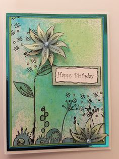 Focus on Papercraft: Cards with a spritzed background  and stamping usi...