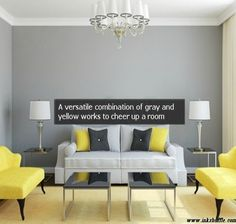 A Combination Of Gray And Yellow In Room Can Work Many Diffe Directions For