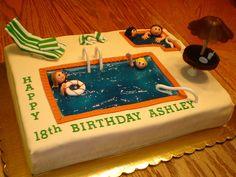 Hotel Pool Cake   Flickr - Photo Sharing!