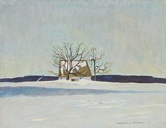 Erich Buchwald Cínovec: 'Lonely House in the Snow', 1943