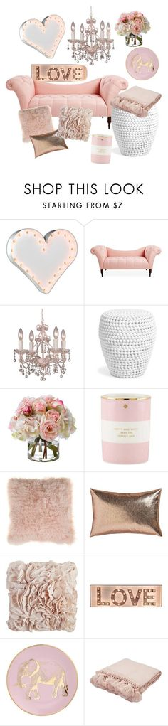 """The love room"" by evelyn-anita ❤ liked on Polyvore featuring interior, interiors, interior design, home, home decor, interior decorating, Vintage Marquee Lights, Crystorama, Diane James and Kate Spade"