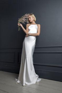 8bb49bd1e88f 7 Best Slip wedding dress images | Lace, Party Dress, Bridal gowns