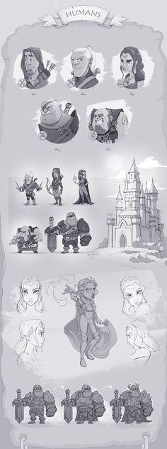 Legend of Fargus - Characters Design on Behance