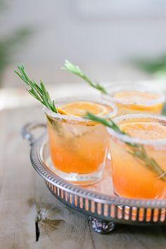Orange Rosemary Spritz Signature Cocktail - snippet & ink