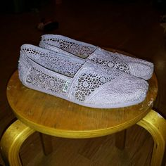 Lilac Crochet Toms - Discontinued Style!
