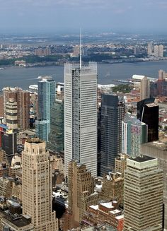 New York Times Tower in NY by Renzo Piano ( built in 2007, 318.8 m & 52 story)