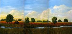 Prairie Creek and Sky VI Commissioned painting by by pattyabaker