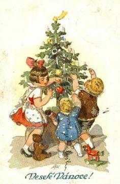 fete noel vintage gifs images - Page 42 Victorian Christmas, Retro Christmas, Vintage Christmas Cards, Christmas Images, Christmas Art, Christmas Greetings, Vintage Cards, Christmas Holidays, Christmas Decorations