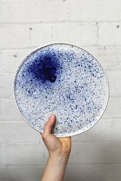 La Petite Fabrique De Brunswick – handmade ceramic platter with Milky Way pattern in porcelain • Available at thebigdesignmarket.com