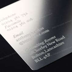 Stainless steel metal metal business card VIP card VIP membership card magnetic stripe card frosted cards custom design