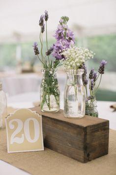 Lavender goodness: http://www.stylemepretty.com/new-hampshire-weddings/sunapee-new-hampshire/2015/04/24/homespun-backyard-new-hampshire-wedding/   Photography: Kate Preftakes - http://preftakesphoto.com/
