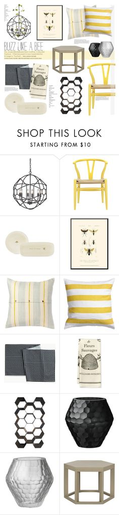 """Bee Inspired"" by leinapacheco ❤ liked on Polyvore featuring interior, interiors, interior design, hogar, home decor, interior decorating, Dot & Bo, Pehr, H&M y Unison"