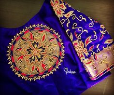 Customised royal blue color bridal blouse with hand embroidery thread work from Yoshnas By Ela .Please reach on 7550227897 / 044 42037313 for any customization.www.facebook.com/yoshnasYoshnas No.2 Co-operative colony Chamiers Road Chennai. Landmark : Next to Hotel Crown Plaza (Park sheraton)Yoshnas No 10b Kuppusamy street Nanganallur Chennai. 23 June 2017