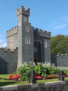 Killyleagh Castle Gatehouse in the village of Killyleagh, County Down, Northern Ireland.