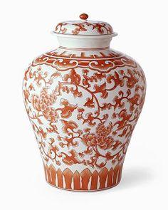 Coral Ginger Jar