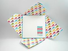 Pinwheel Fold Card using the envelope punchboard - details at http://www.splitcoaststampers.com/resources/tutorials/pinwheelfunfold/