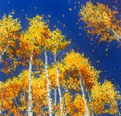 """Falling Gold"" - Original Fine Art for Sale - © Jill Bates"