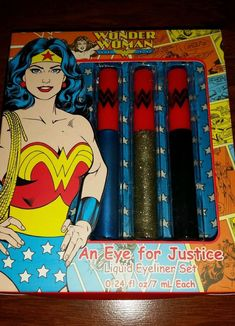 Wonder Woman Eye Liner Set Eye for Justice DC Comics 2016 - 3 colors  #Wonderwoman