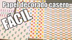 Cómo hacerte unas plantillas de acetato para crear bonitos papeles decorados de scrapbooking para usar en tus proyectos.  Te explicamos cómo decorar papel para tus proyectosde scrapbook. Big Shot, Washi Tape, Scrapbook Paper, Diy, Lettering, Youtube, Mix Media, Ideas, Stampin Up