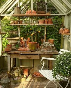 If I had a greenhouse or potting shed that was this beautiful, I think I would live in it. If I had a greenhouse or potting shed that was this beautiful, I think I would live in it.