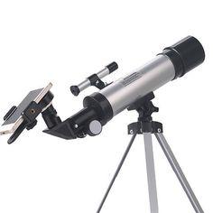 SUNCORE F36050 Astronomical Telescope HD View With Desk Tripod Professional Telescope - Silver + Black Astronomical Telescope, High Tech Gadgets, Forts, Compact, Desk, Silver, Black, Astronomy, Plant Stem