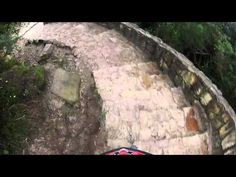 It takes a lot of courage to take your bike downhill in Monserrate moutain in Columbia