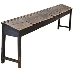 school house old primitive furniture | Primitive Childrens School Desk at 1stdibs