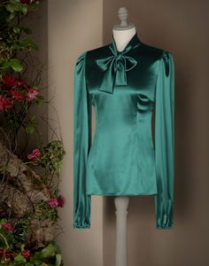 Dolce&GabbanaSatinBlouse with Bow